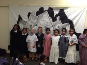 Dress up in olden day clothes