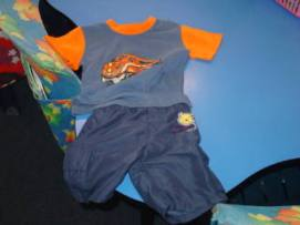 This is a great play outfit. Comfortable and easy to clean in the wash.