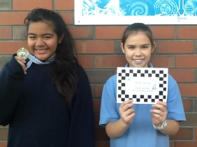 Chess Champion Ana-Renei and Chess Competitor Anisha