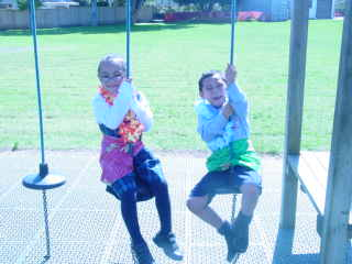 I like to swing in my lavalava.