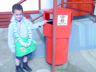 I can tidy the school in my lavalava.