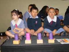 Room 1a students participated in the Liturgy, carefully holding the candles when they were lit.