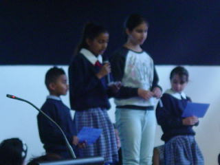 Everyone spoke well and impressed us with their fantastic reading.