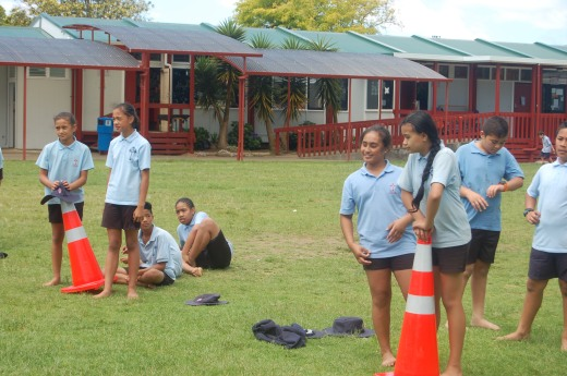 Year 6 Camp Obstacle Course