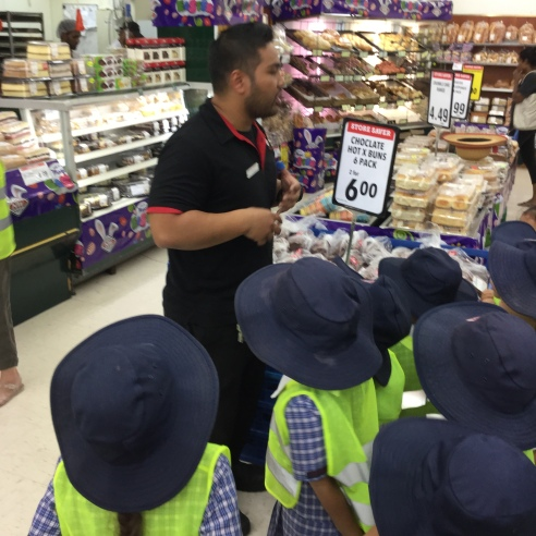 We met Michael the Grocery Manager who showed us around the store.
