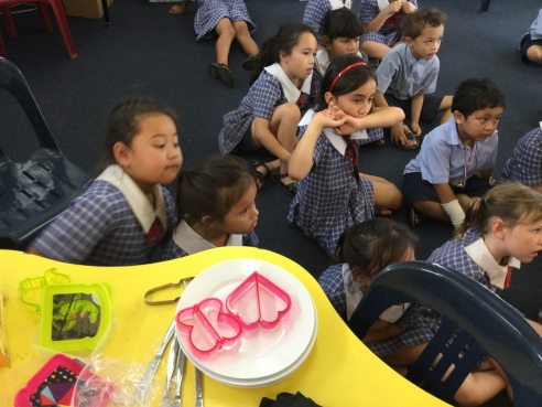 Everyone listened carefully to the teachers and waited patiently for their turn