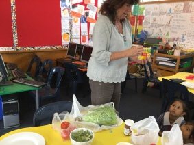Mrs O'Grady talked about all the ingredients. She asked us what we knew about them