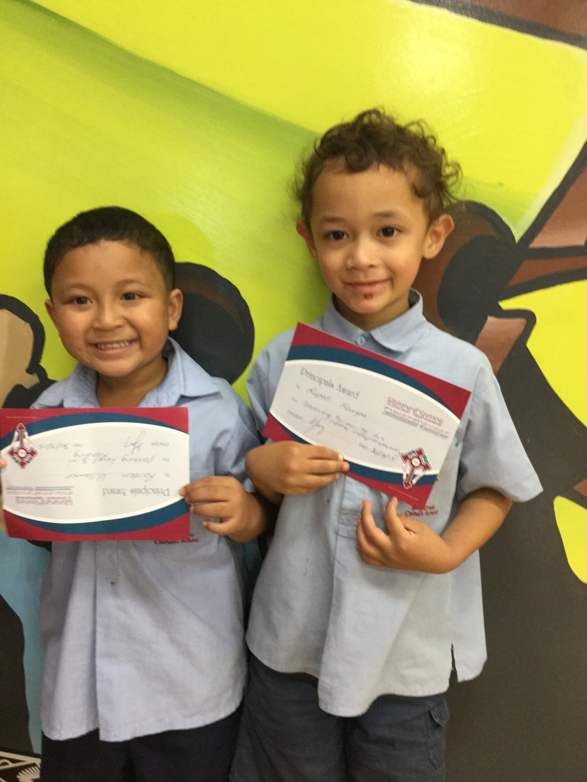 Raiden and Ropati each received a Principals Award certificate.