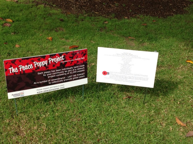 Information about the Peace Poppies.