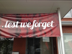 'Lest we forget' - it is important to remember the brave soldiers who fought for our country.