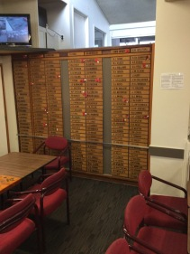 We saw the list of the soldiers from Papatoetoe who had faught in the wars.