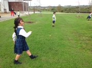 Laila's action kick! Where did that ball go