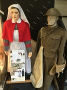 Two manniquins from the war