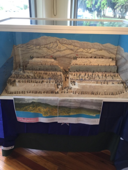 A diorama, showing the area of Gallipoli