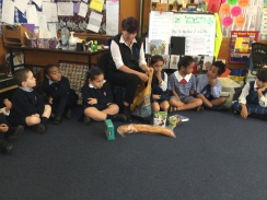 Mrs O'Grady introduces the different foods.