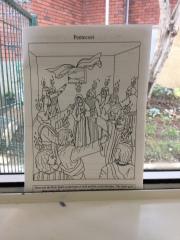 RE Colouring Page - 'Pentecost'