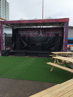 The performance area