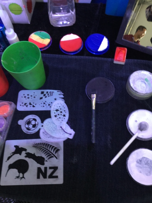 Stencils and brushes