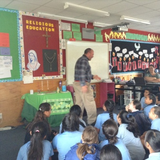 Students enthralled in his speaking.