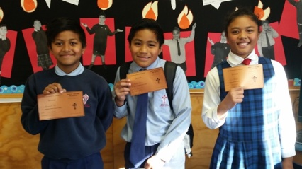 Bronze Math Awards - Jeremiah, Teofilo and Nu'u