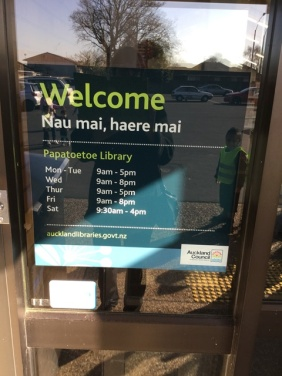 There are opening times and days listed on the door