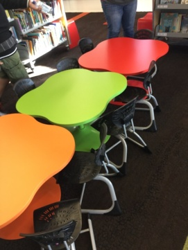 Colourful tables for children
