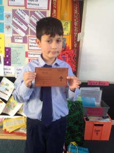 Francisco with his Bronze award