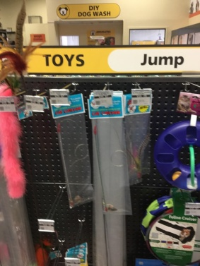 Toys to jump at