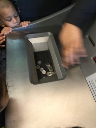 See them go into the machine