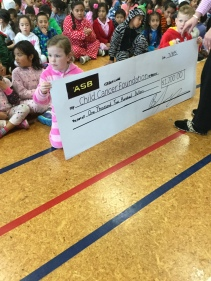 The big cheque