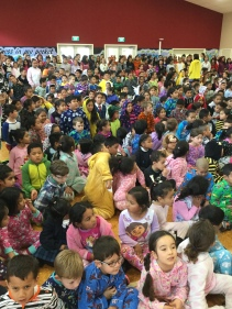 The school in onesies