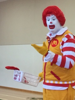Here is Ronald's washing basket
