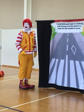 Ronald reached the road