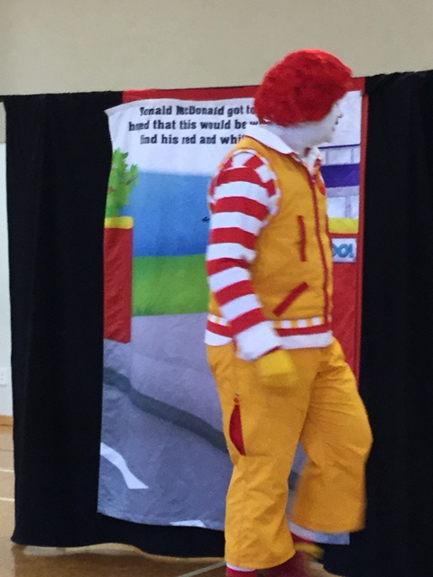 Over the road goes Ronald