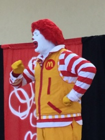 Ronald called his friend from McDonalds