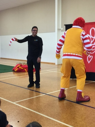 He grabbed it as Ronald turned around