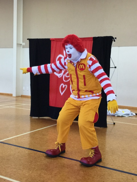 Ronald was surprised
