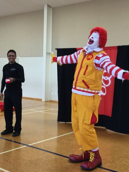 Ronald laughed and laughed