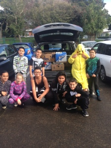 Here are a group of our students who helped load the boxes of donated books for Kiribati.