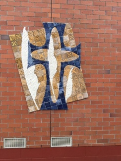 A mura with a cross and a toi toi design, because our school is in Papatoetoe