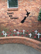 Our ANZAC Day remembrance area