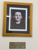 A photo of Father Mc Kean our first parish priest