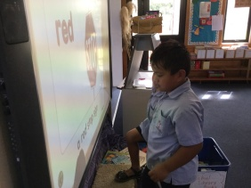 Reading and spelling on the ActivBoard