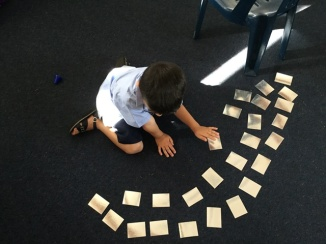 Matching numeral/set cards