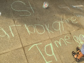 Writing in chalk