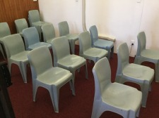 Seats ready for people to pray