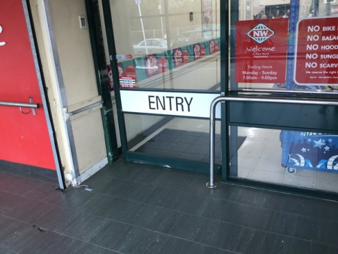 The entry onto the store