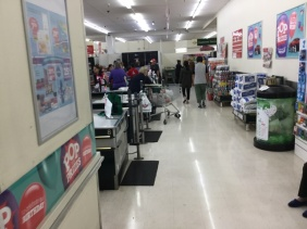 There are lots of people in the store