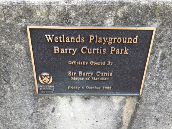 The opening plaque