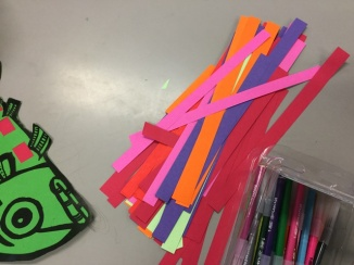 Paper strips to weave with